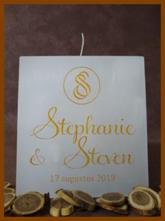 Huwelijkskaarsen bestellen, klik op de foto. Bekijk, via het menu, ook onze 400 voorbeeldfoto's ter inspiratie.