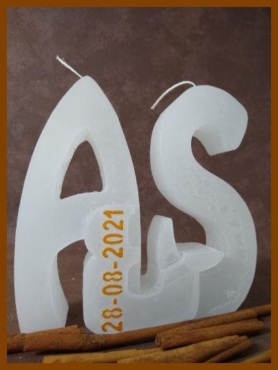 3d kaars hoofdletters huwelijkskaars trouwkaars handgemaakt online bestellen